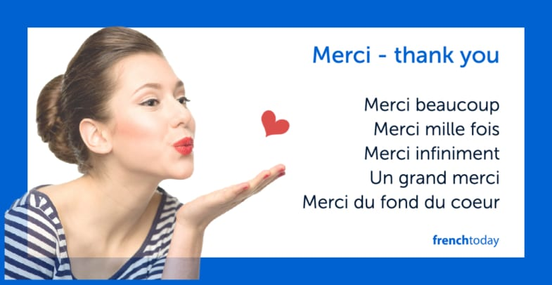 The Many Ways To Say Thank You In French W Audio