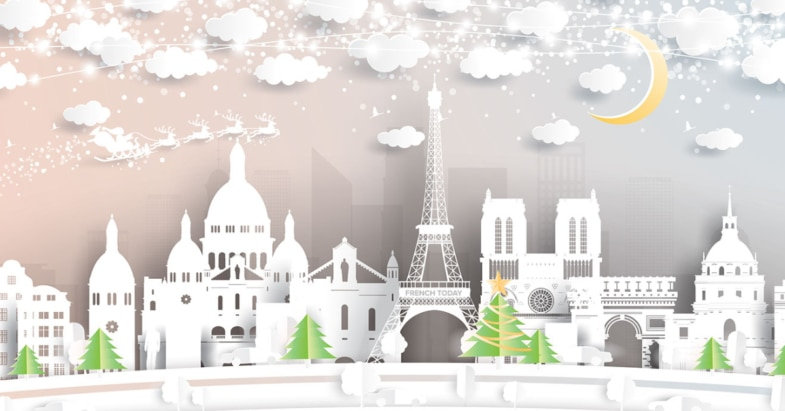 Paris at Christmas time